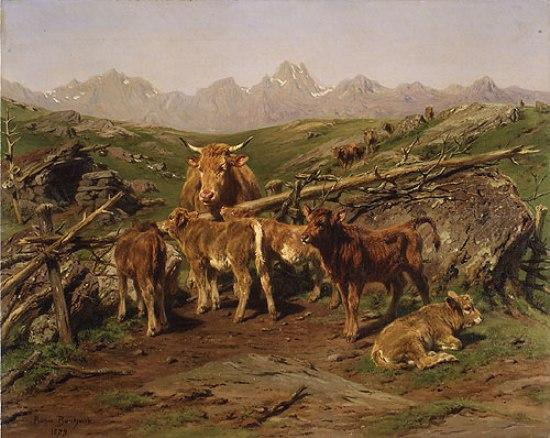 Weaning the Calves, Oil On Canvas by Rosa Bonheur (1822-1899, France)