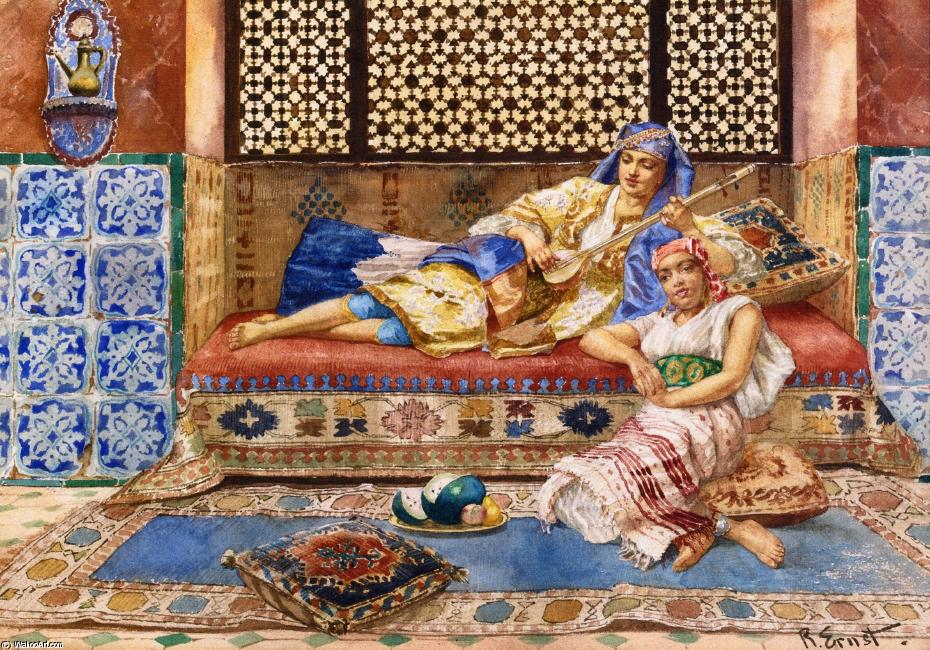 Harem Solg by Rudolph Ernst (1854-1932, Austria) | Art Reproduction | WahooArt.com