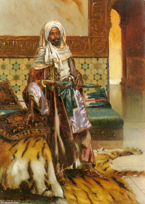 The Arab Prince by Rudolph Ernst (1854-1932, Austria) | Oil Painting | WahooArt.com