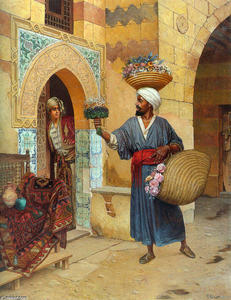Rudolph Ernst - The Flower Seller