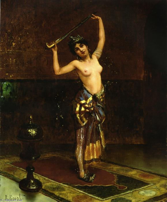 The Sword Dancer (aka The Dance of Salome) by Rudolph Ernst (1854-1932, Austria) | WahooArt.com