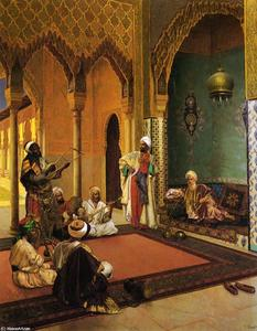 Rudolph Ernst - Traveling Musicians Playing for the Sultan