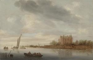 Salomon Van Ruysdael - Castle on a River