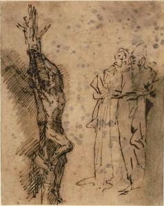 Salvator Rosa - Studies for the Crucifixion of Polycrates 1