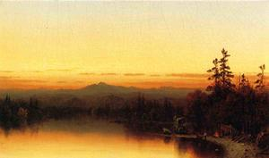 Sanford Robinson Gifford - A Twilight in the Adirondacks 1