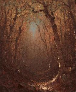Sanford Robinson Gifford - Autumn, a Wood Path