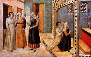 Sano Di Pietro - Scenes from the Legend of Saint Peter Martyr. A Miracle