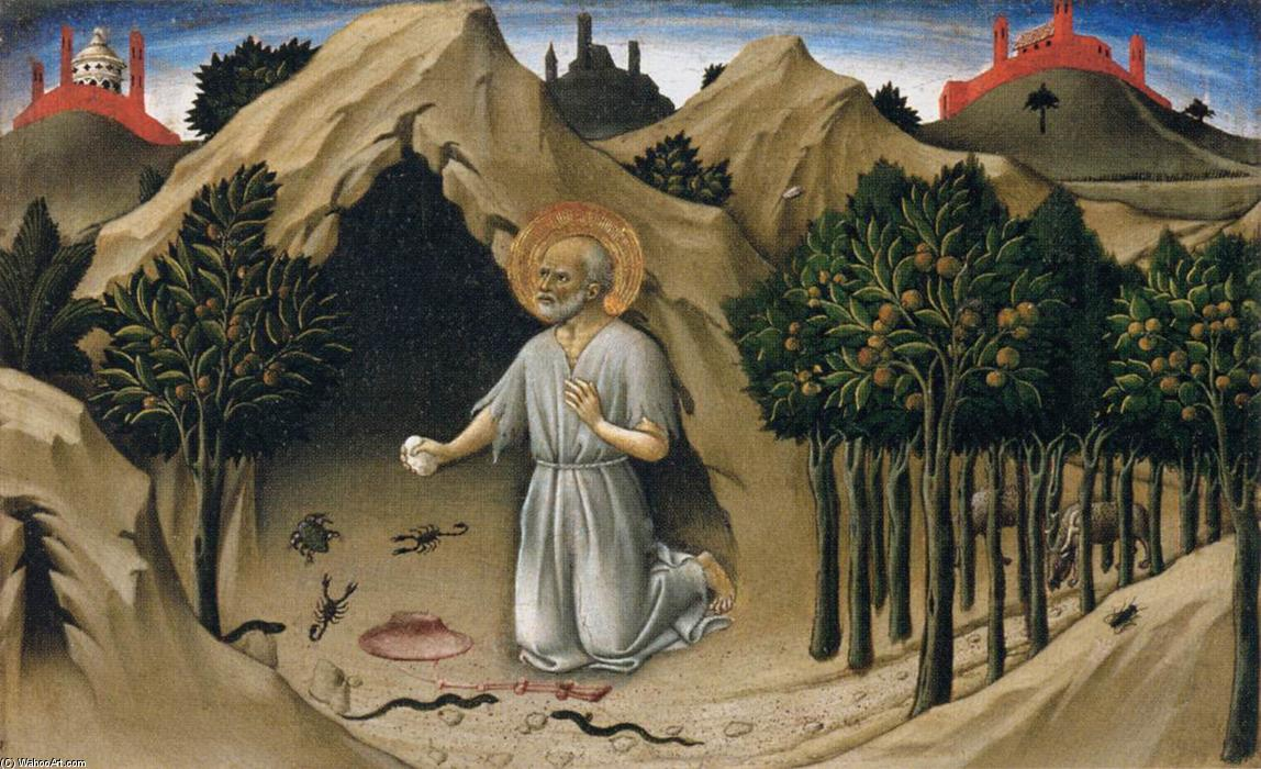 Scenes from the Life of St Jerome, 1444 by Sano Di Pietro (1406-1481, Italy) | Famous Paintings Reproductions | WahooArt.com