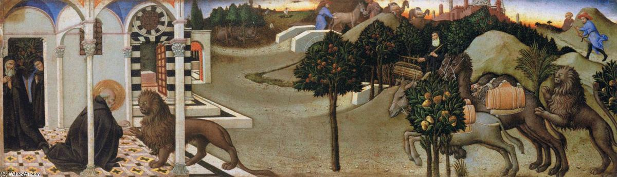 Scenes from the Life of St Jerome, 1444 by Sano Di Pietro (1406-1481, Italy) | Art Reproductions Sano Di Pietro | WahooArt.com