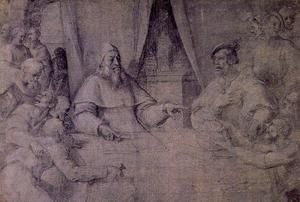 Sebastiano Del Piombo - Clement VII and Charles V