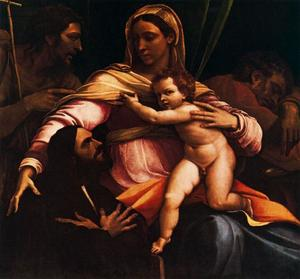 Sebastiano Del Piombo - Holy Family with St. John the Baptist and a donor