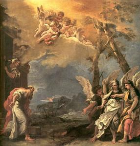 Sebastiano Ricci - Abraham and Angels