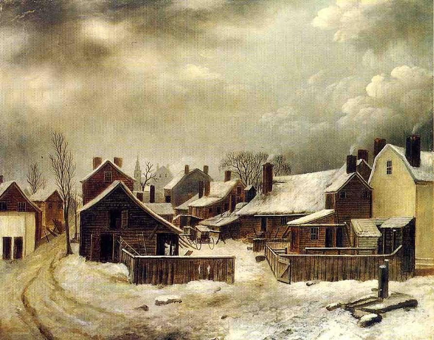 Brooklyn in Winter by Seymour Joseph Guy (1824-1910, United Kingdom) | Museum Quality Reproductions | WahooArt.com