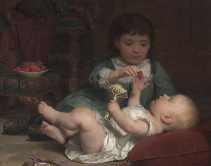 Temptation by Seymour Joseph Guy (1824-1910, United Kingdom) | Museum Quality Reproductions | WahooArt.com