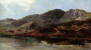 Sidney Richard Percy - Landscape With A Lake, And Mountains Beyond