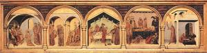 Simone Martini - Altar of St Louis of Toulouse. predella