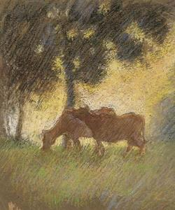 George Clausen - Cows Taking Shade