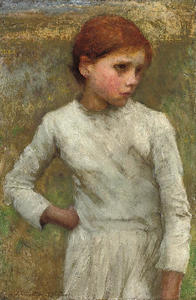 George Clausen - Young Girl