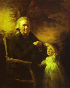 Henry Raeburn - Portrait of John Tait and His Grandson