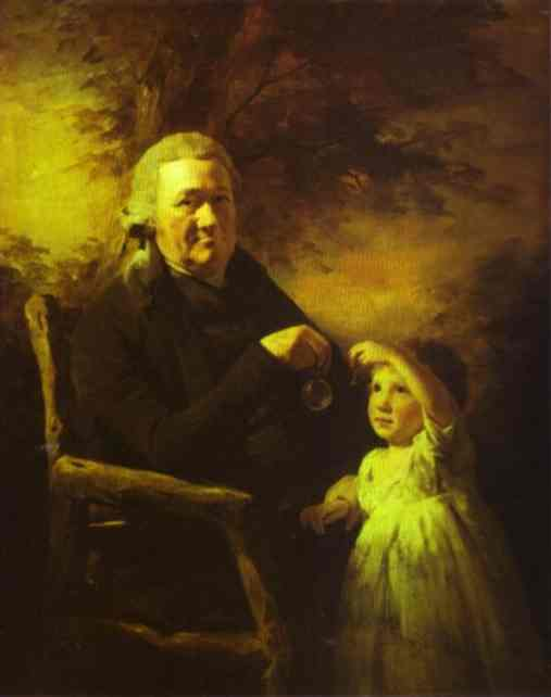 Portrait of John Tait and His Grandson by Henry Raeburn (1756-1823, United Kingdom) | Museum Quality Reproductions | WahooArt.com