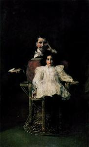 John Lavery - Father and Daughter