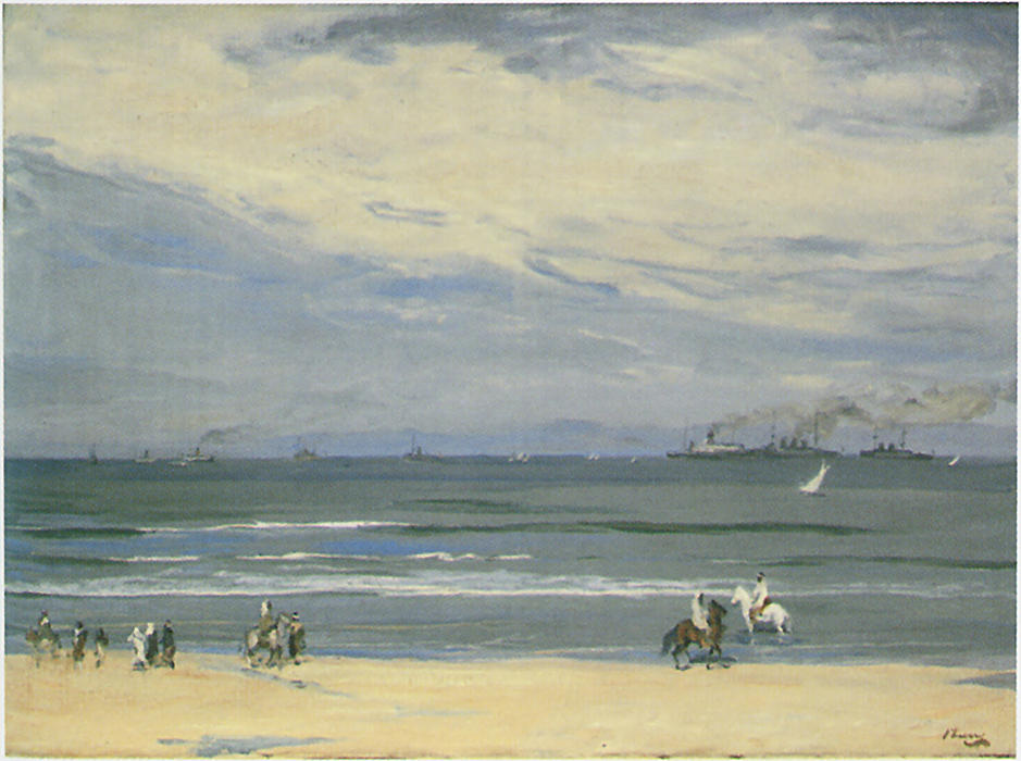 French Gunboats, Tangier by John Lavery (1856-1941, Ireland)
