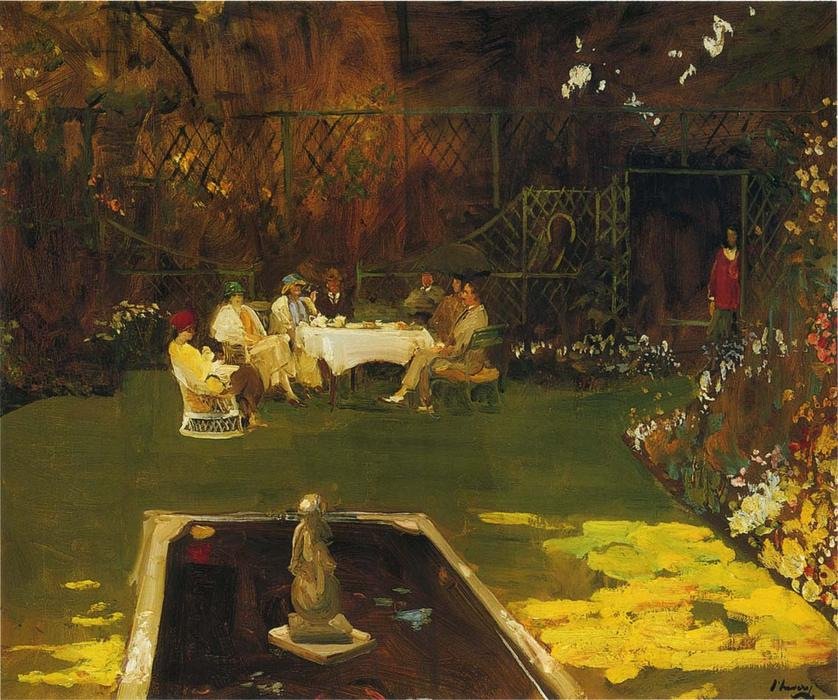 The Garden at Ardilea by John Lavery (1856-1941, Ireland) | Reproductions John Lavery | WahooArt.com