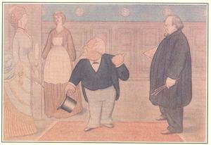 Max Beerbohm - Mr. Browing brings a lady of rank and fashion to see Mr.Rossetti