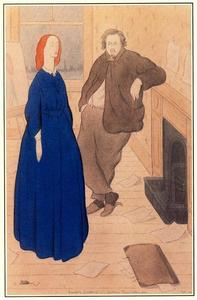 Max Beerbohm - Rossetti's Courtship. Chatham Place