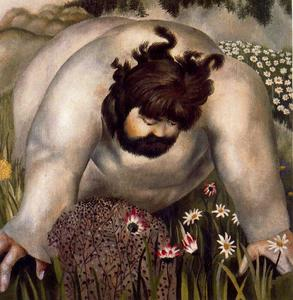 Stanley Spencer - Christ in the Wilderness. Consider the Lilies