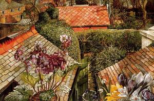 Stanley Spencer - Cookham. Flowers in a Window