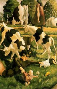 Stanley Spencer - Cows at Cookham