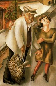 Stanley Spencer - Crossing the Road