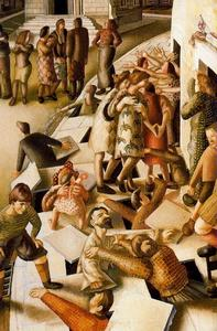 Stanley Spencer - The Resurrection with the Raising of Jairus's daughter 1