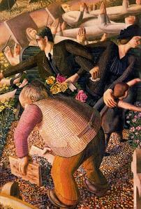 Stanley Spencer - The Resurrection. Waking up 1