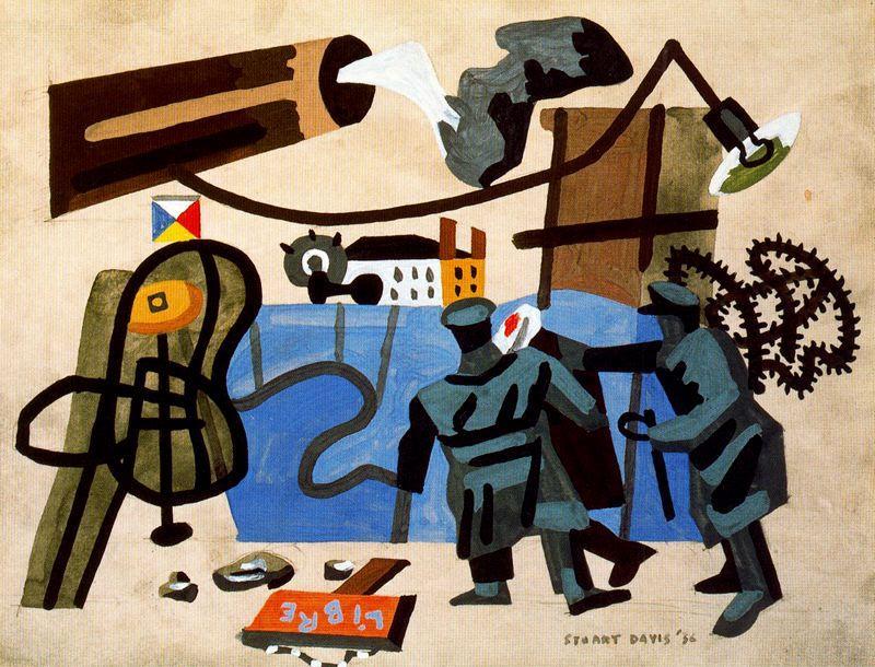 Resultado de imagem para Stuart Davis artistas contra a guerra