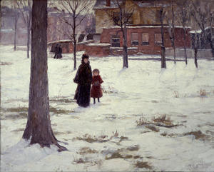Theodore Clement Steele - 16th Street, Indianapolis (Winter Morning)