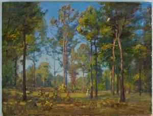 Theodore Clement Steele - A Stroll Through the Woods (Blue Sky)