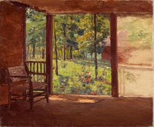 Theodore Clement Steele - A View from the Porch