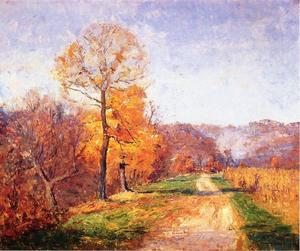 Order Painting Copy : Along a Country Lane by Theodore Clement Steele (1847-1926, United States) | WahooArt.com