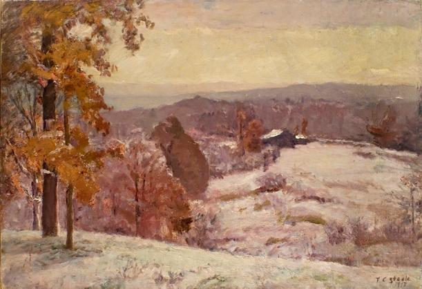 Buy Museum Art Reproductions | An Early Snow - Looking North by Theodore Clement Steele (1847-1926, United States) | WahooArt.com