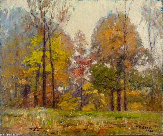 An October Day (Autumn) by Theodore Clement Steele (1847-1926, United States) | Famous Paintings Reproductions | WahooArt.com