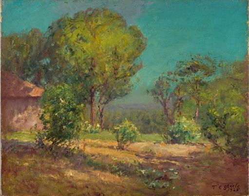 Order Museum Quality Reproductions : Approach to the Garden by Theodore Clement Steele (1847-1926, United States) | WahooArt.com