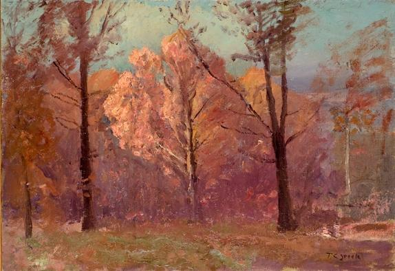 Autumn, White Oak by Theodore Clement Steele (1847-1926, United States) | Paintings Reproductions Theodore Clement Steele | WahooArt.com