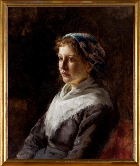 Bavarian Peasant Girl by Theodore Clement Steele (1847-1926, United States) | Paintings Reproductions Theodore Clement Steele | WahooArt.com