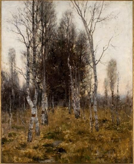 Birches by Theodore Clement Steele (1847-1926, United States) | Art Reproduction | WahooArt.com