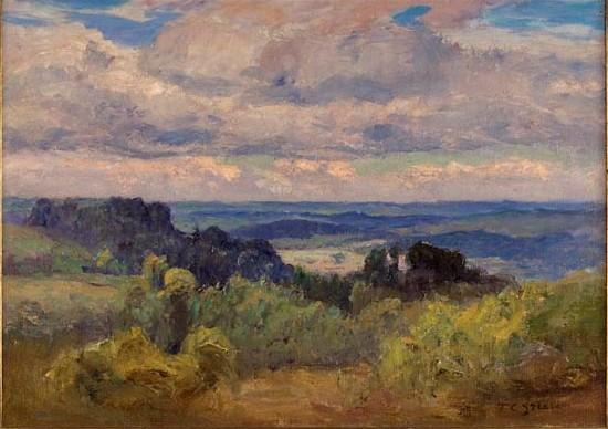 Blue Hills and Sky by Theodore Clement Steele (1847-1926, United States) | Painting Copy | WahooArt.com