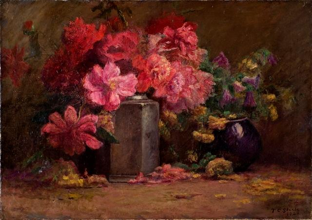 Bouquet of Flowers by Theodore Clement Steele (1847-1926, United States) | Famous Paintings Reproductions | WahooArt.com