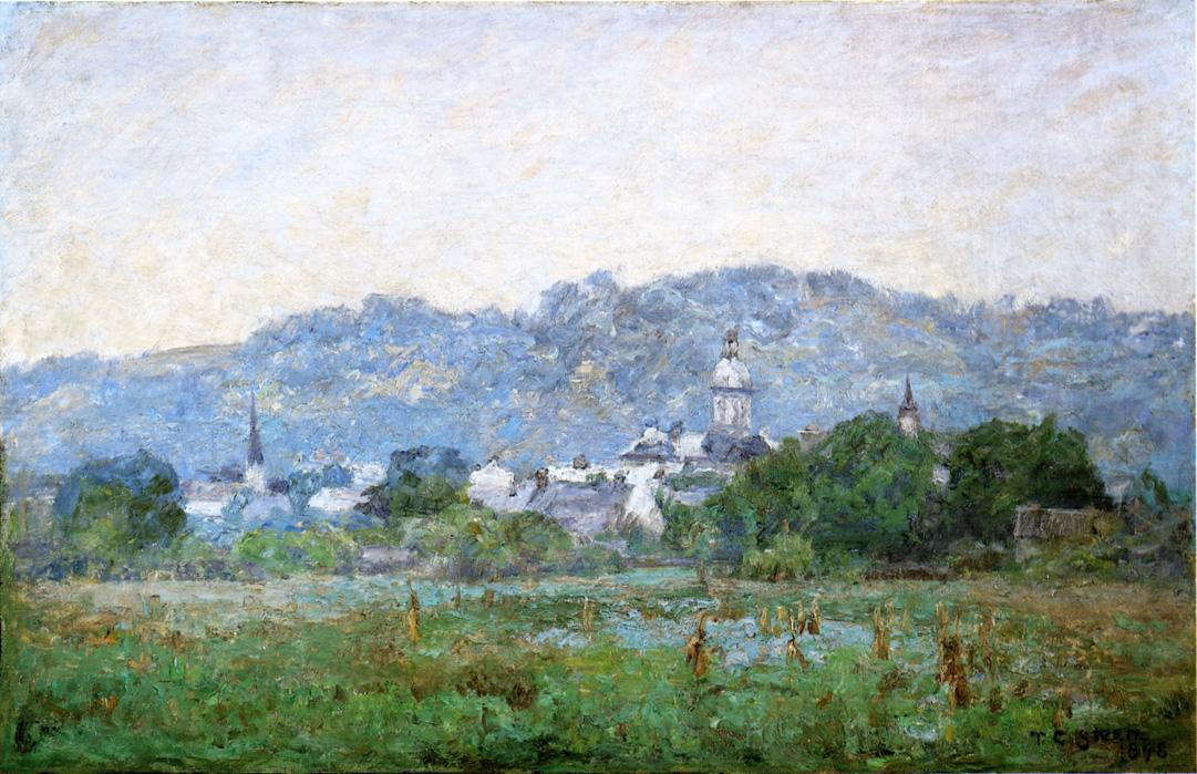 Brookville by Theodore Clement Steele (1847-1926, United States) | Paintings Reproductions Theodore Clement Steele | WahooArt.com