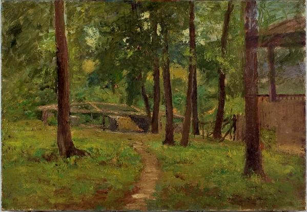 Cabin Among the Trees by Theodore Clement Steele (1847-1926, United States) | Art Reproductions Theodore Clement Steele | WahooArt.com